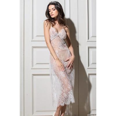 Mia Mia Длинная сорочка «Chanel» (белый) арт. 2034-2