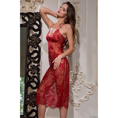 Mia Mia Длинная сорочка «Chanel» (красный) арт. 2034