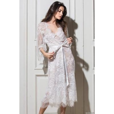 Mia Mia Длинный халат «Chanel» (белый, черный, красный) арт. 2033-2
