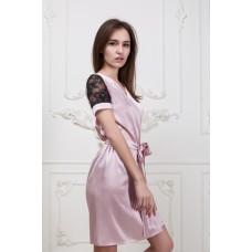 Халат с коротким кружевным рукавом IMATE  розовый