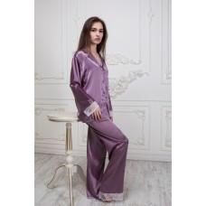 Пижама с кружевом  IMATE сиреневый арт. 1041