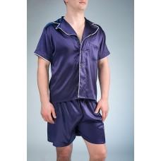 шелковая пижама с шортами  IMATE «Крис»  синий арт. 1071