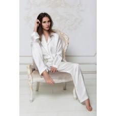 Пижама шелковая IMATE  «Экри» жемчужный арт. 505