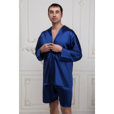 IMATE Пижама шелковая с шортами «Freedom» синий