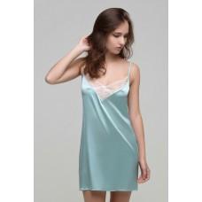 Сорочка ночная с кружевом мятный