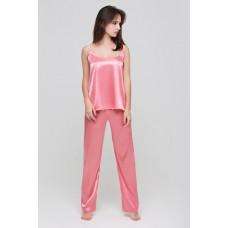 Шелковый комплект с брюками  «Zefir»  розовый