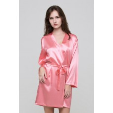 Халат шелковый без кружева IMATE розовый