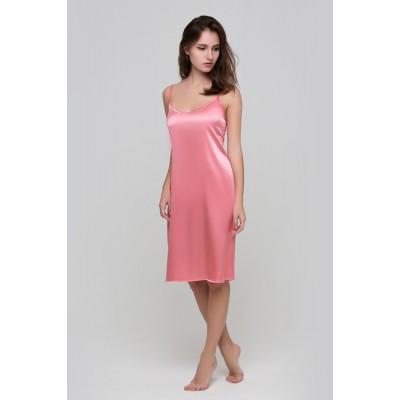 Комбинация (розовый)  купить в Киеве, низкая цена, в наличии, натуральный шелк, длинные и короткие шелковые сорочки в  -Мир шелка