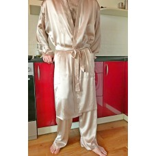 Халат мужской шелковый  длинный с карманами
