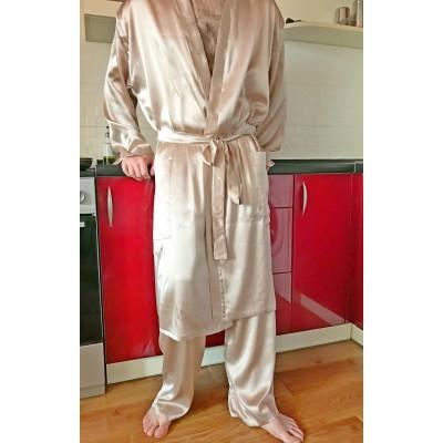 Классический халат кимано из натурального шелка
