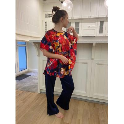 Шелковый комплект с брюками женский  в наличии в Киеве купить с доставкой