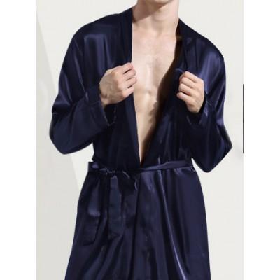 Длинный шелковый халат мужской в разных цветах, в наличии