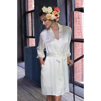 Шелковый халат для невесты