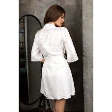 Короткий халат жемчужный