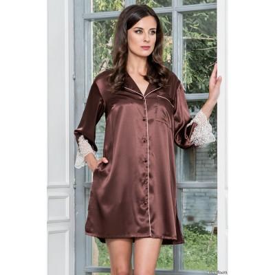 Mia Mia Рубашка «Мarilin» (шоколадный) арт. 3107-1