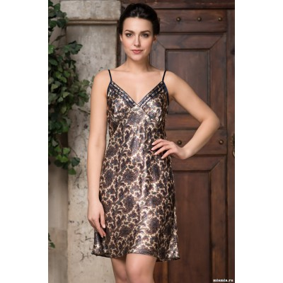 Модная ночная рубашка леопардовая