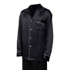 Черная шелковая пижама с брюками арт.  1346 Франция