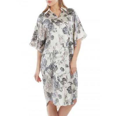 Домашняя рубашка длинная шелковая арт. SC-207
