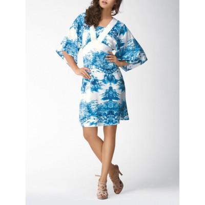 Платье из натурального шелка Marc & André SS-A4203 голубой
