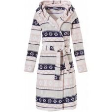 Теплый халат в снежинки Rebelle