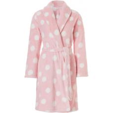 Теплый халат нежно розовый Rebelle